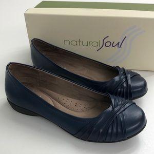 Natural Soul Blue Comfort Flats 8 M